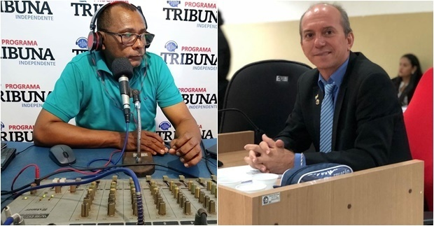 _O radialista Eliézio Silva e o vereador Antunes Macêdo (Imagens: Divulgação). Vereador se diz perseguido pelo radialista. Tal argumento é um mantra usado por muitos políticos