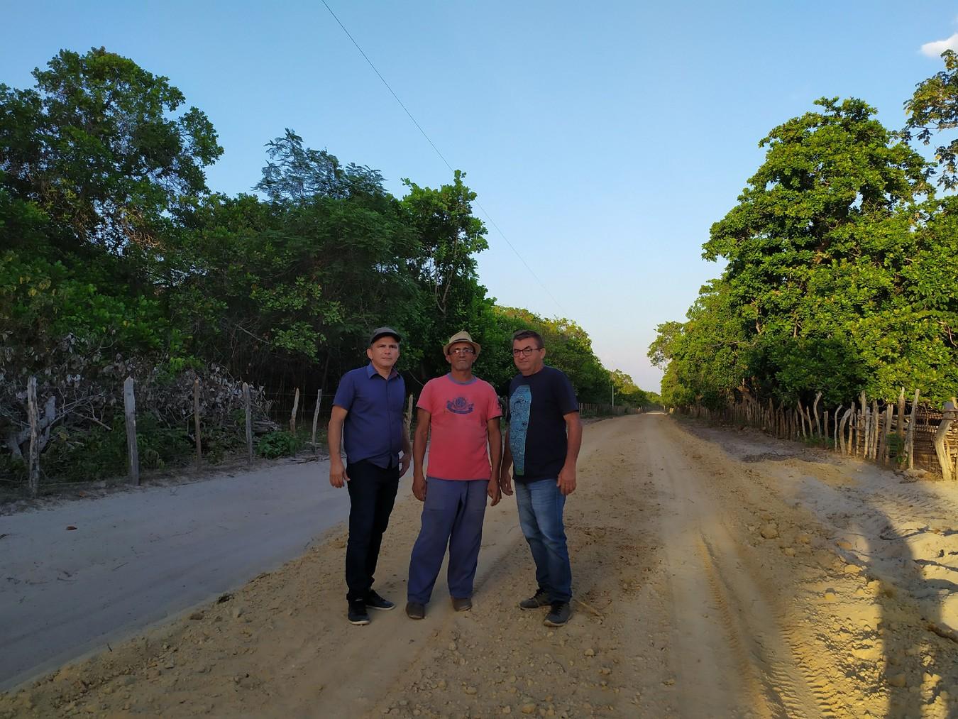 Prefeito Osmar Vieira, Sr. José Wilson e Vereador Brandão
