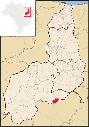 _Localização do município de Dirceu Arcoverde (Imagem: Reprodução)