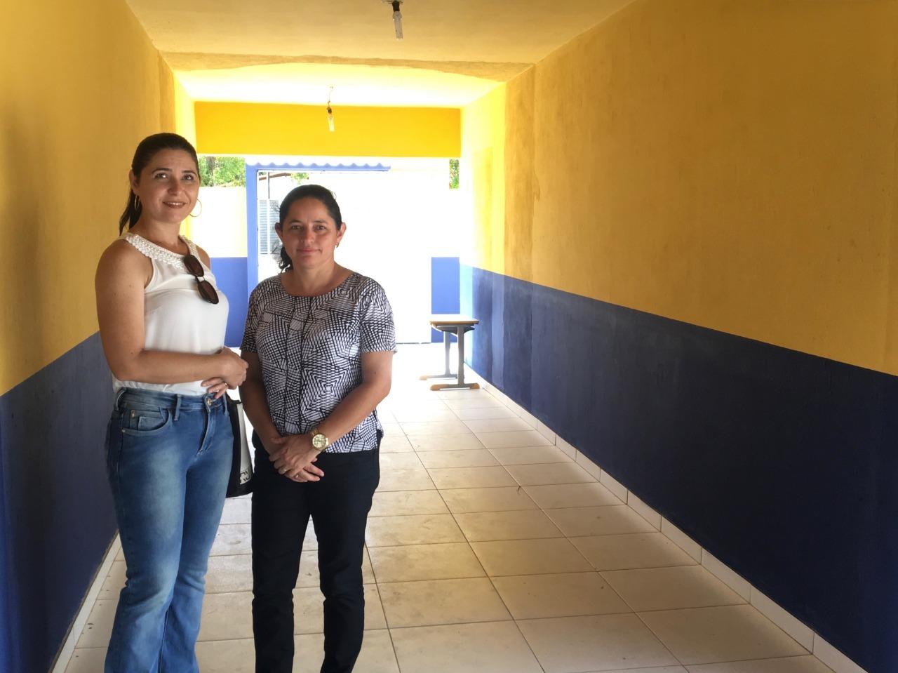 Primeira dama Jesus Frota e secretária de educação Aurilene Vieira