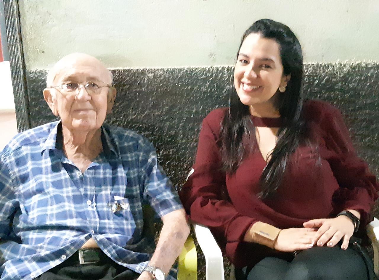 Pedro Henrique de Area Leão e sua neta Ticiana Area Leão Sousa