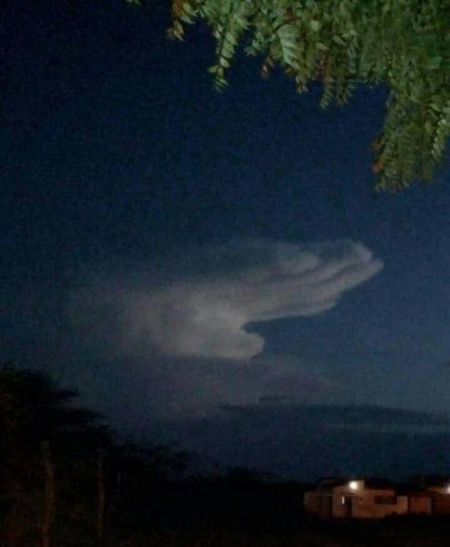 Nuvem foi vista também em Assunção-PB