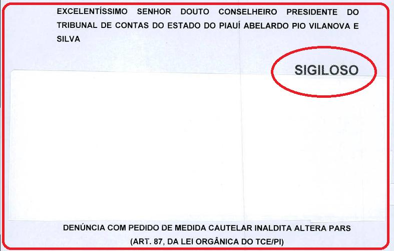 _Documento, com sigilo do denunciante