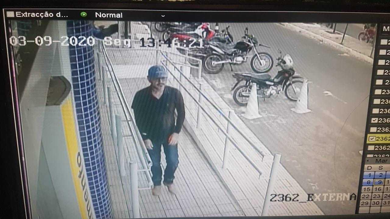 Imagem do sistema de câmeras da Agência do BB em Oeiras