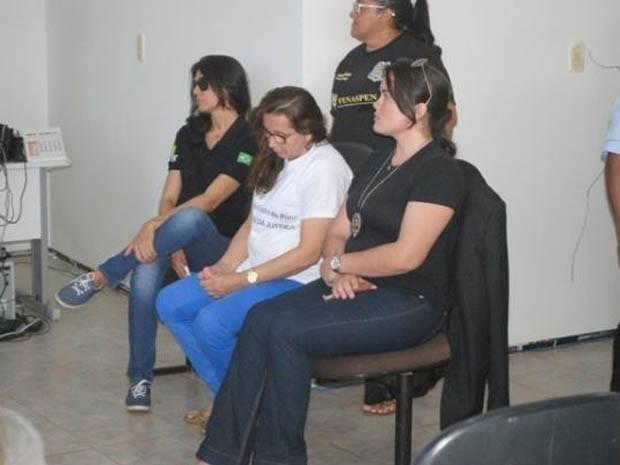 Antônia durante julgamento na cidade de Picos