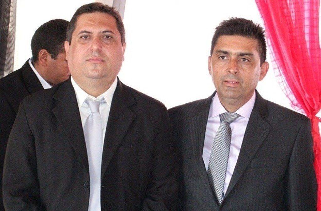 Prefeito Wesley Gonçalves de Deus e o vice Edilson Teixeira