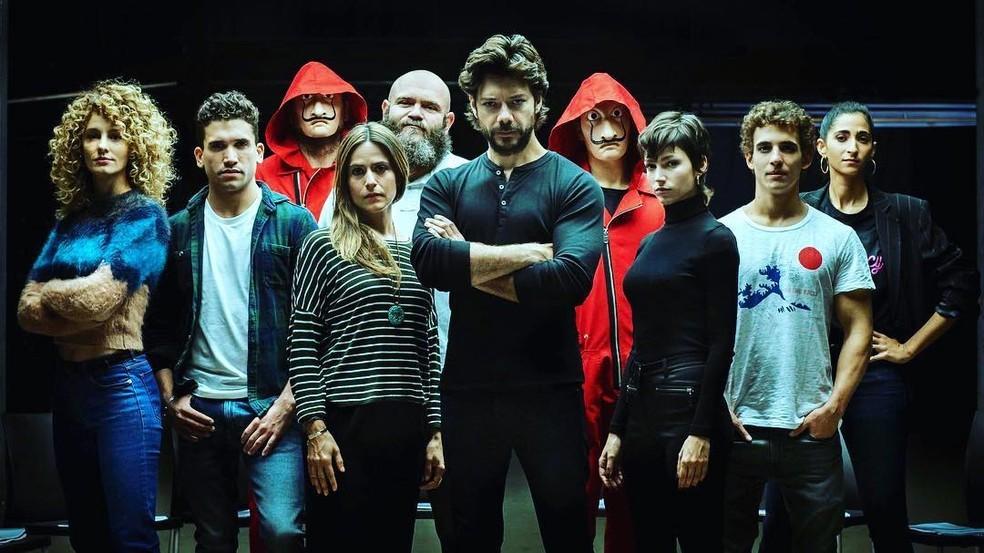 O professor, da série La Casa De Papel que será um dos lançamentos de Abril (Foto: Divulgação/ Netflix)