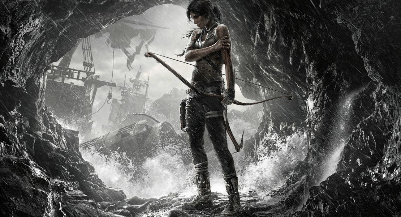 Lara Croft em Tomb Raider.