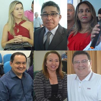 _Os secretários cujas pastas assinaram contratos (Imagem: montagem/divulgação)