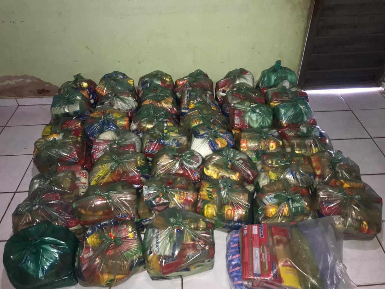 cestas básicas organizadas