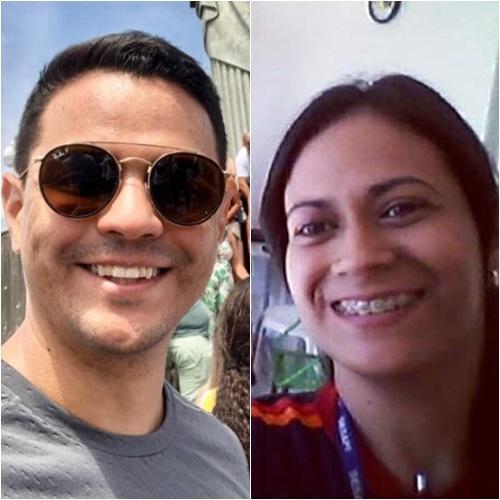 Médico Carlos Victor e a enfermeira Samara Félix