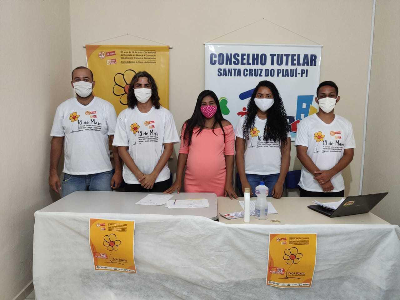 Membros do Conselho Tutelar de Santa Cruz do Piauí