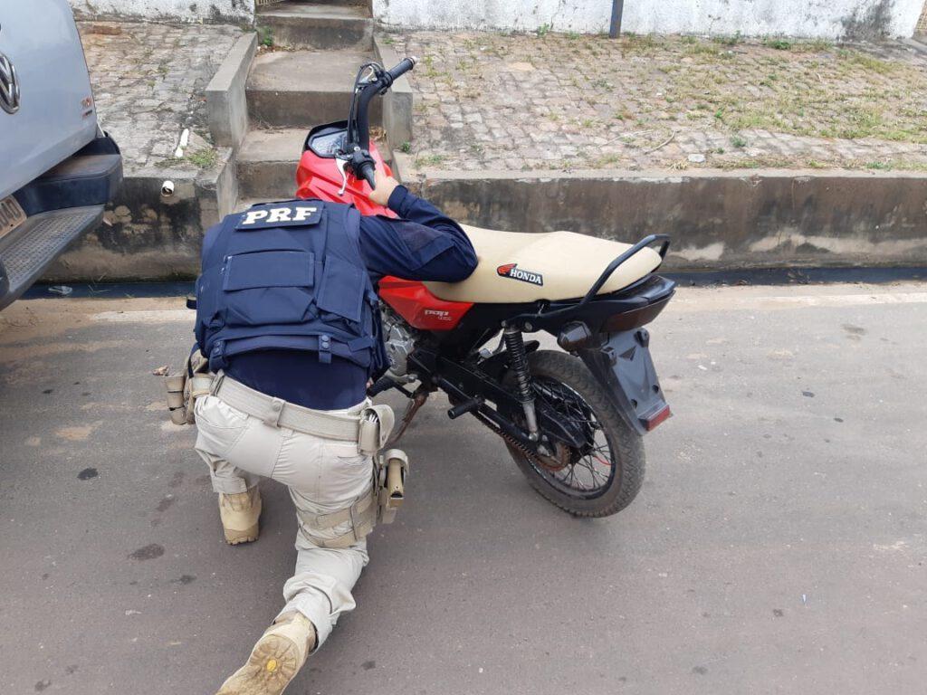 Motocicleta apreendida