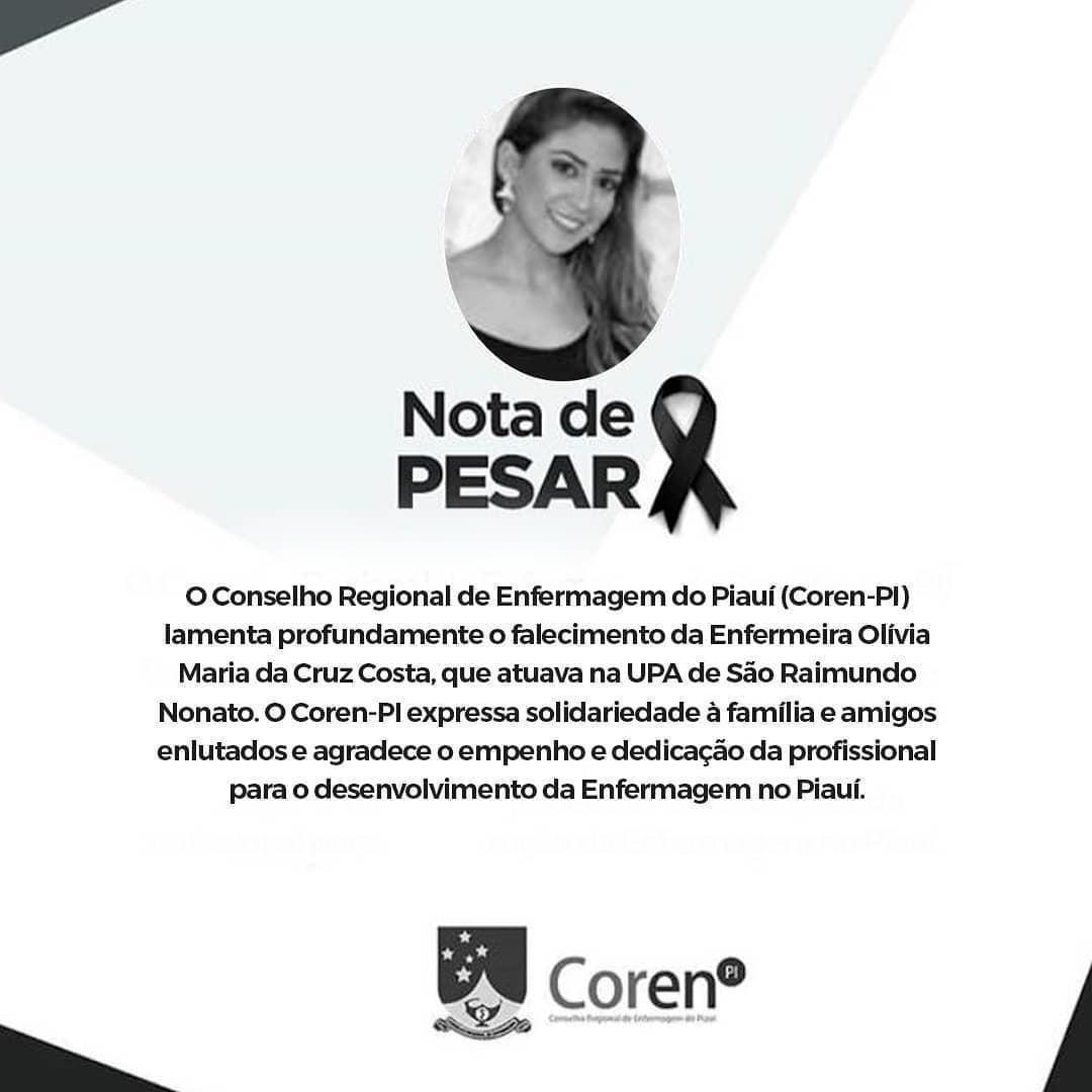 Enfermeira da UPA de São Raimundo Nonato morre por coronavírus em Teresina 3