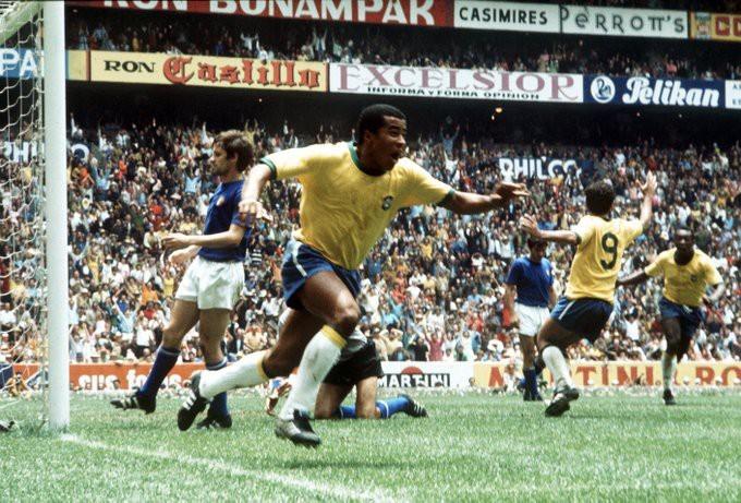 Jairzinho - Brasil x Itália - Copa do Mundo 1970