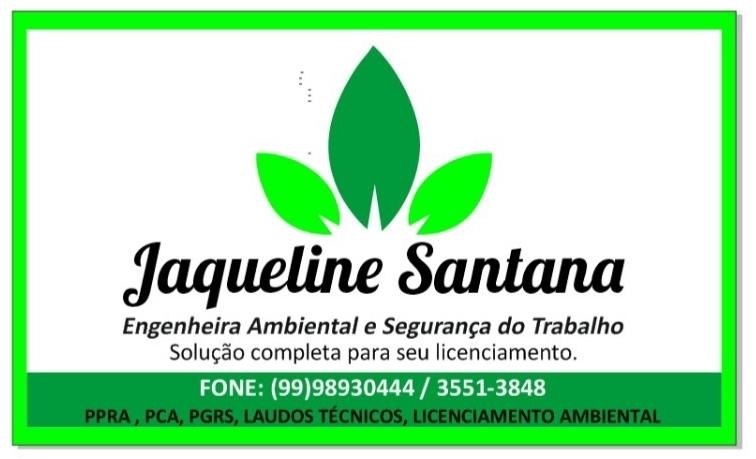 APOIO: JAQUELINE SANTANA ENGENHEIRA AMBIENTAL E SEGURANÇA DO TRABALHO