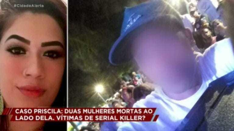 TV Vítima Priscila Martins e o suspeito, que foi assassinado