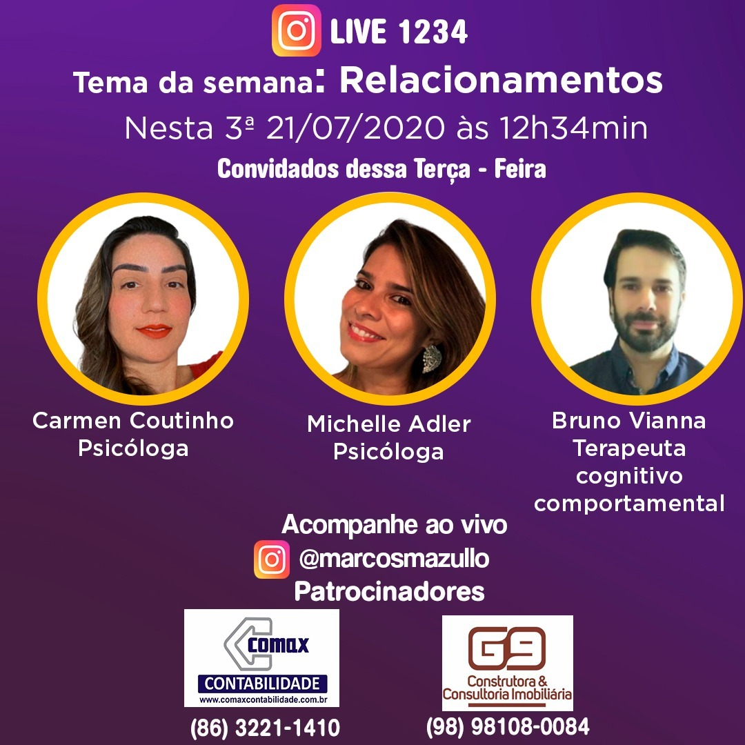 #live1234 - Relacionamentos entre casais