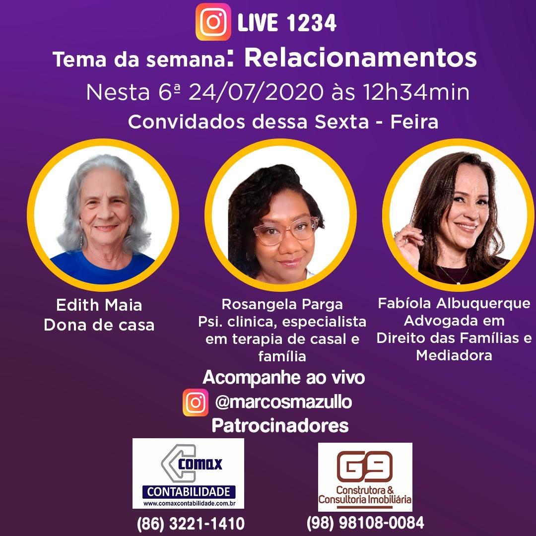 #live1234 - Relacionamentos na família