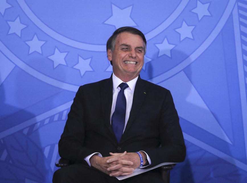 O PoderData indica que Jair Bolsonaro tem 38% das intenções de voto para a Presidência da República no 1º turno de 2022