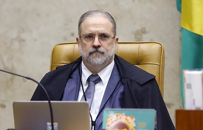 Procurador-geral da República, Augusto Aras, durante a sessão plenária