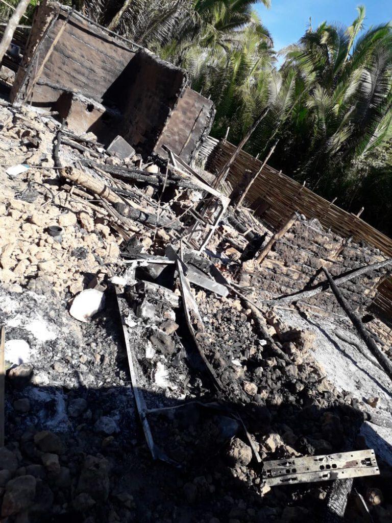 Incêndio destrói residência e família perde tudo em cidade do Piauí 2
