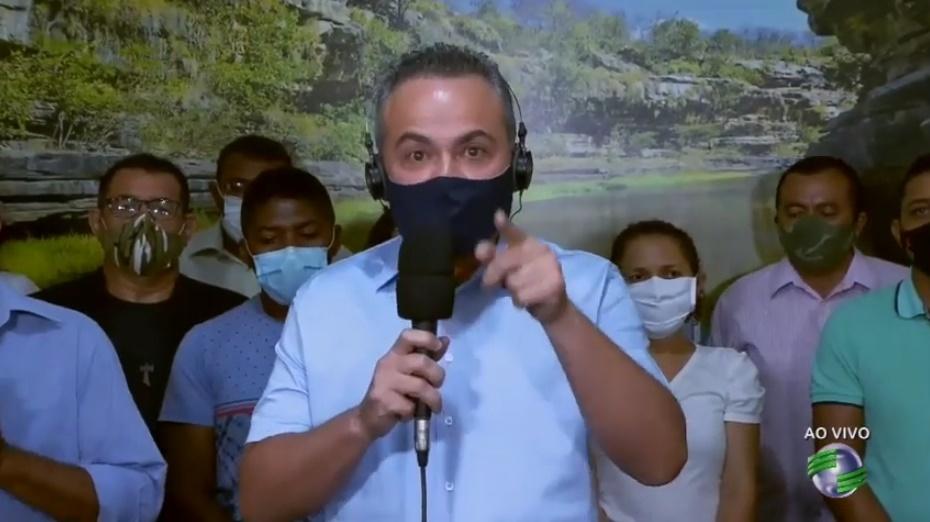 _Ex-candidato ao governo do Piauí Valter Alencar, que pregava a moralidade e o combate à corrupção nas eleições de 2018   Imagem: Reprodução TV CV