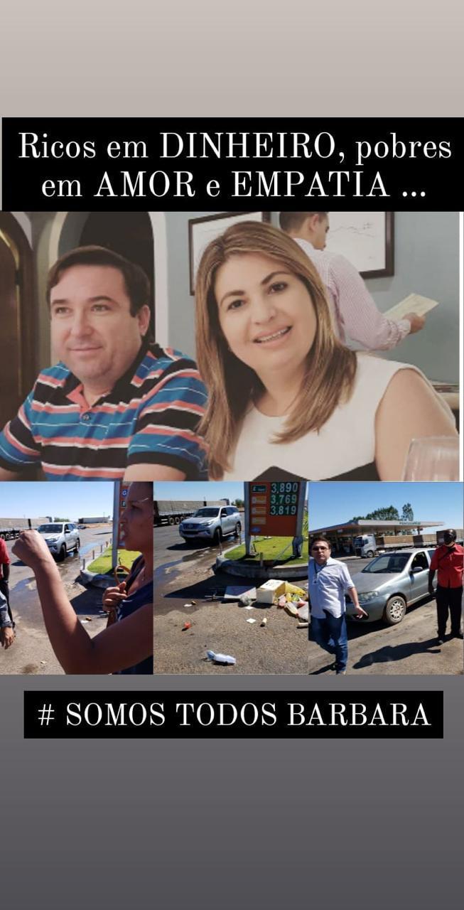 Vendedora de lanches tem mercadorias destruídas e é agredida na frente de posto no Piauí 4