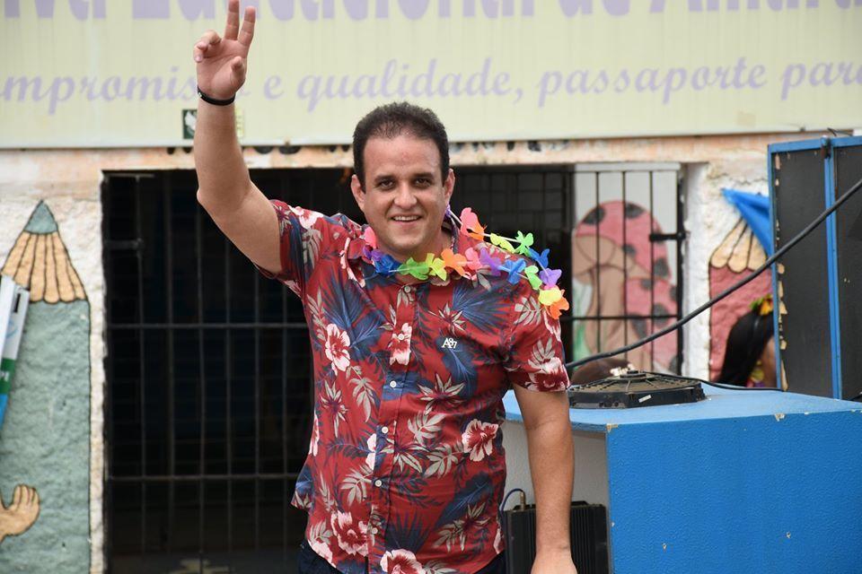 _Diego Teixeira, prefeito de Amarante, ele venceu processo contra popular (Foto: Divulgação)