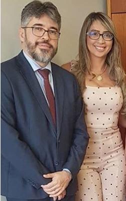Hélder Jacobina e a esposa, chamada de Dani, nas supostas tratativas de propina (Imagem: Divulgação)