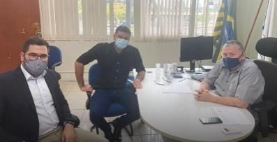 Com o superintendente da Funasa, José Raimundo Cardoso
