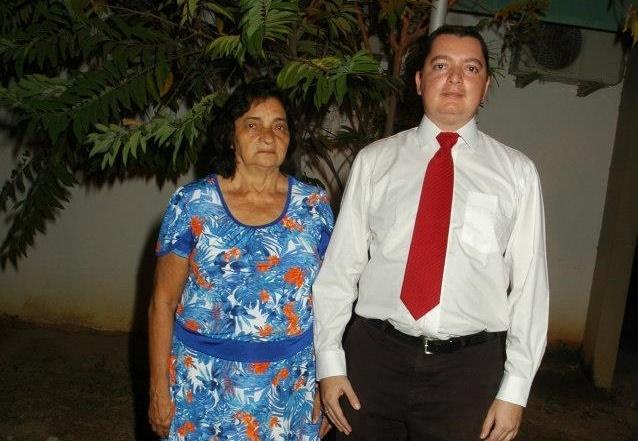 João Paulo e a mãe