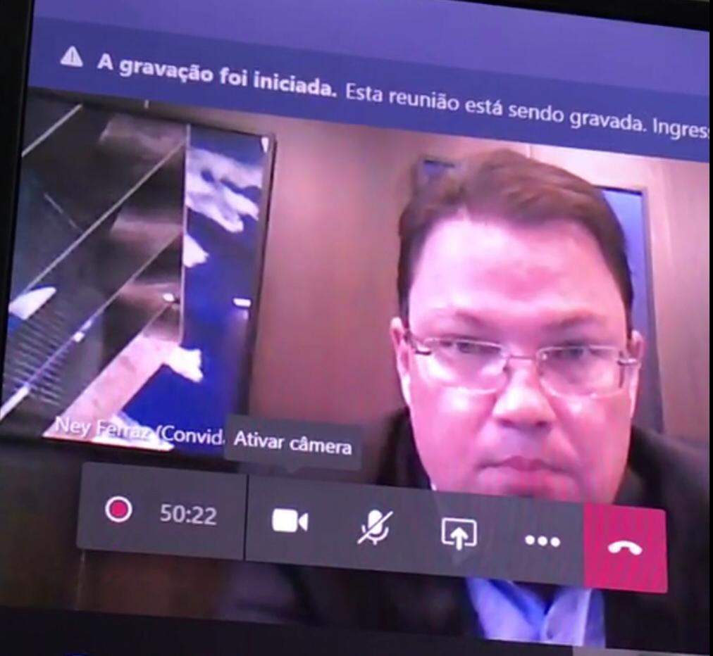 _Ney Ferraz: Marido da vítima de cirurgião plástico. E uma das testemunhas no processo contra o jornalista Arimateia Azevedo (Imagem: Reprodução)