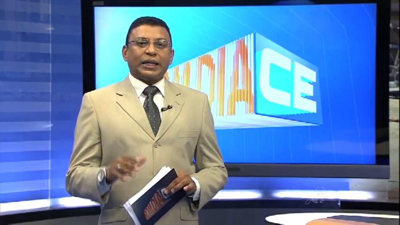 Jornalista Fernando Ribeiro em participação no jornalistico Bom Dia Ceará, na TV Verdes Mares