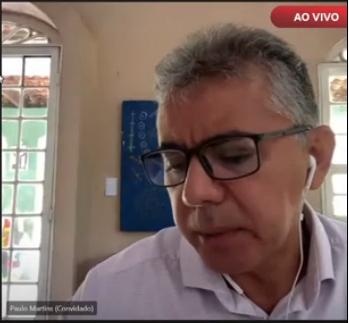 _O ex-prefeito Paulo Martins durante o julgamento (Imagem: Reprodução)