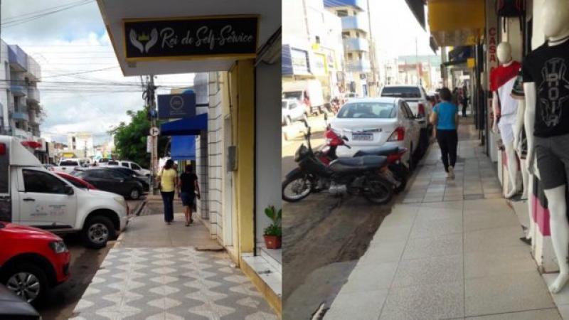 As calçadas foram organizadas e agora os pedestres podem circular livremente