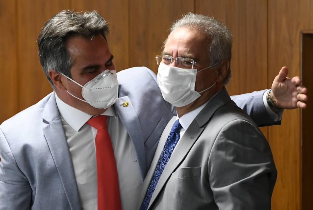 _Ciro Nogueira e Renan Calheiros, senadores integrantes da CPI da Pandemia