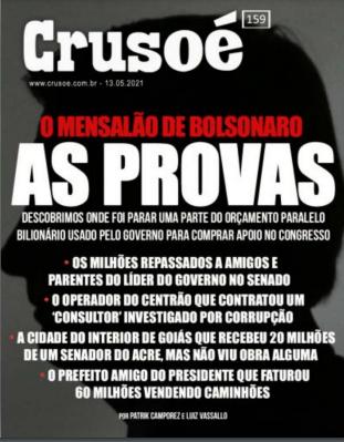 _A capita da Revista Crusoé (Imagem: Reprodução)