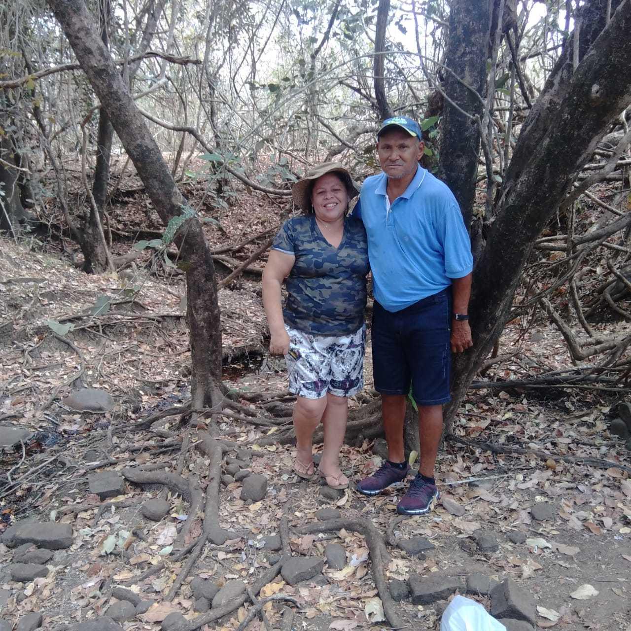 Joaquim e a esposa Alzira Correia