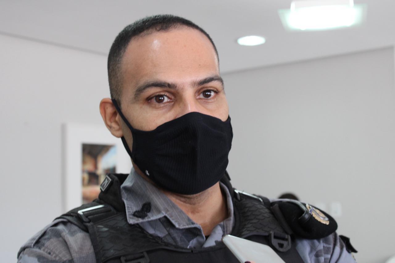 Comandante do 4º BPM de Picos, Major Felipe,