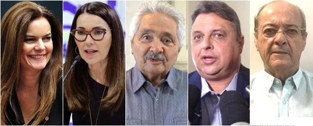 Iracema Portella, Margarete Coelho, Elmano Férrer, Júlio Arcoverde e Silvio Mendes
