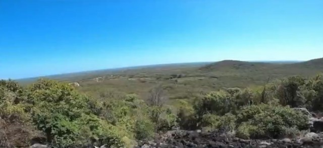 Vista da serra onde fica localizada a Pedra do Sino na zona rural de Luís Correia