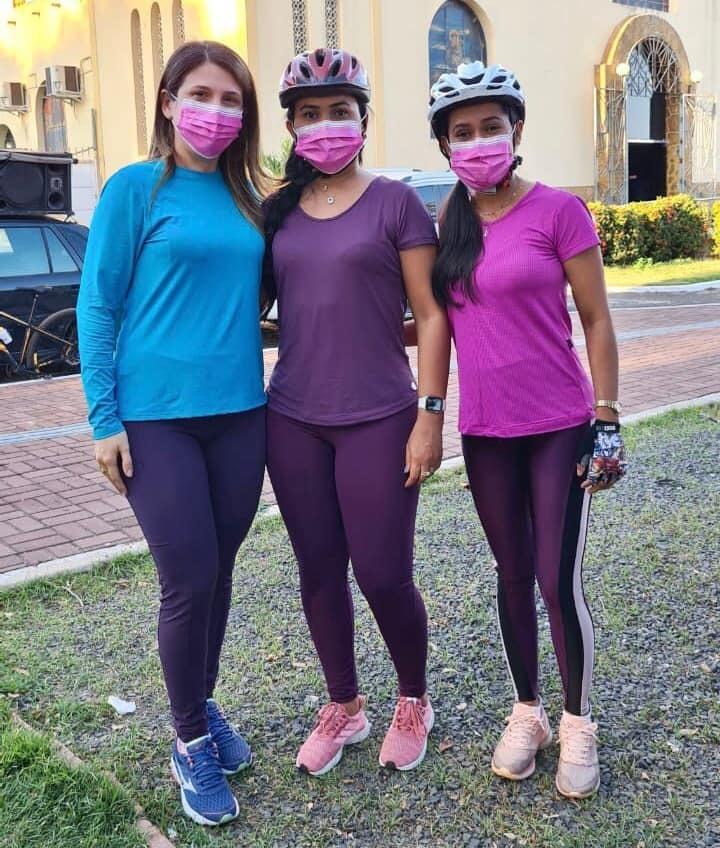 Primeira-dama Paula Deylândia, Thalyta Nunes e vereadora Fabíola Santos