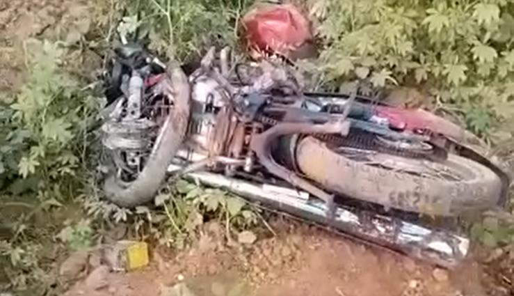Moto envolvida em acidente
