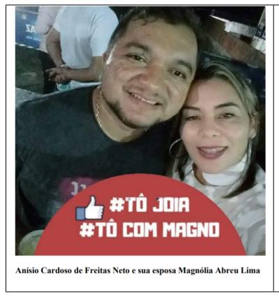 __Servidora da prefeitura de Castelo do Piauí ao lado do seu esposo (Reprodução de Autos)