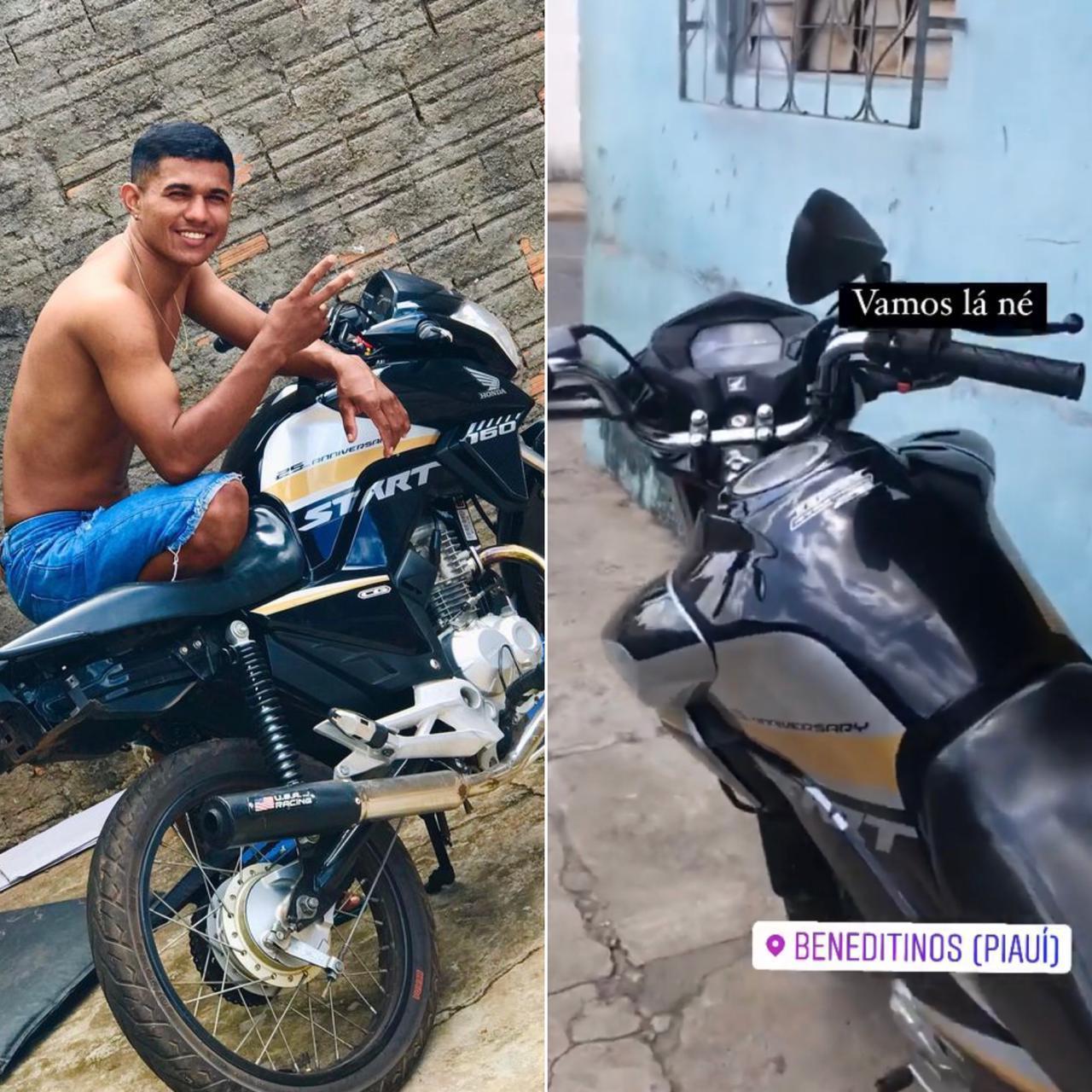Jovem morre em acidente de motocicleta em Altos