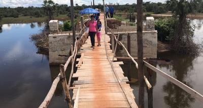 Thumb ponte improvisada