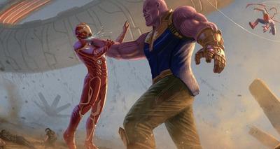 Thumb thanos iron man avengers infinity war 2018 artwork uv 2048x1152