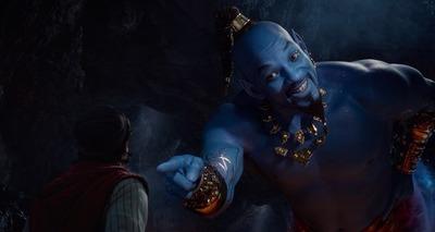 Thumb will smith blue genie aladdin movie
