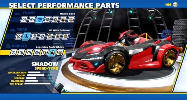Medium sonic racing